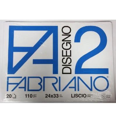 Album Fabriano 2 24x33 Liscio 110 g/m²