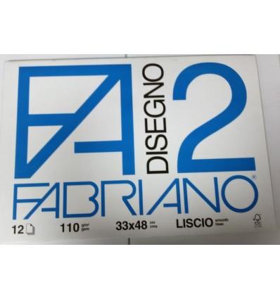 Album Fabriano 2 33x48 Liscio 110 g/m²