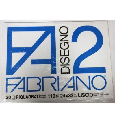 Album Fabriano 2 24x33 Riquadrato 110 g/m²