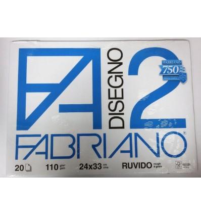 Album Fabriano 2 24x33 Ruvido 110 g/m²