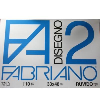 Album Fabriano 2 33x48 Ruvido 110 g/m²