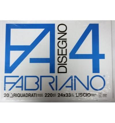 Album Fabriano 4 24x33 Riquadrato 220 g/m²